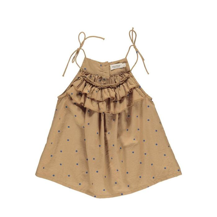MarMar - Trille Top -  Caramel Dot Light Cotton Print