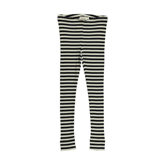 MarMar - Modal Stripes Leg - Black Off White