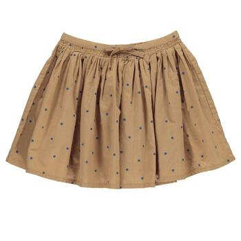 MarMar - Sille Light Cotton Print Skirt - Caramel Dot